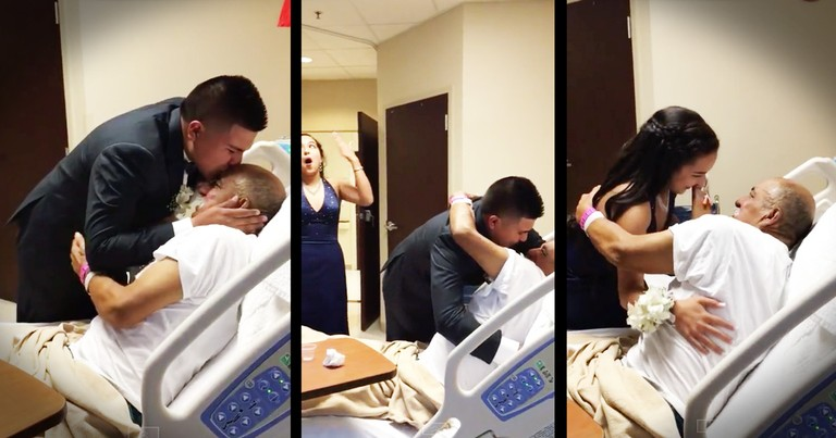 Grandfather's Hospital Surprise From His Grandson Will Melt Your Heart