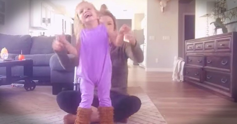 Little Girl With Cerebral Palsy Dancing With Her Momma Is Precious