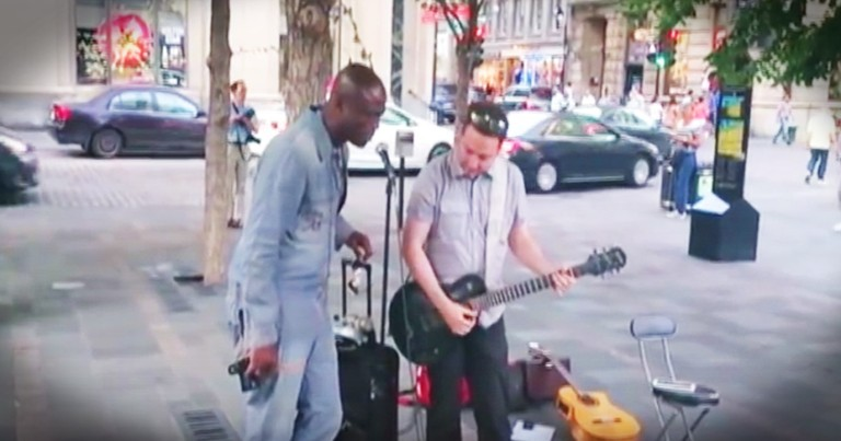 Famous Singer's Surprise Duet With A Street Performer Is Amazing