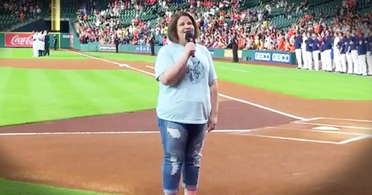 Chewbacca Mom Is Singing For Our Country...SO Good!