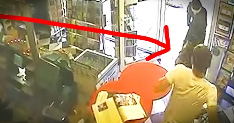 Brave Dog Chases Off Robber