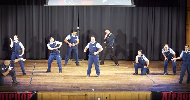 Cops Stun The Audience With Amazing Surprise Dance