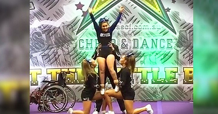 Wheelchair Bound Cheerleader's Performance Will Inspire You