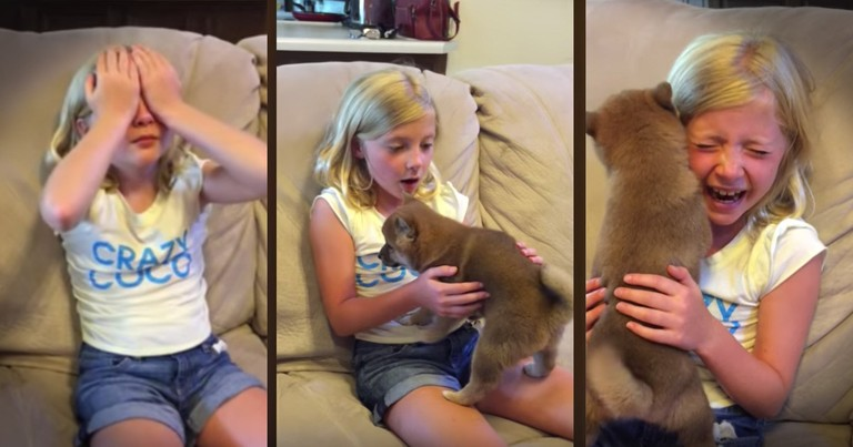 Little Girl's Reaction To Her Birthday Puppy Will Bring On The Feels