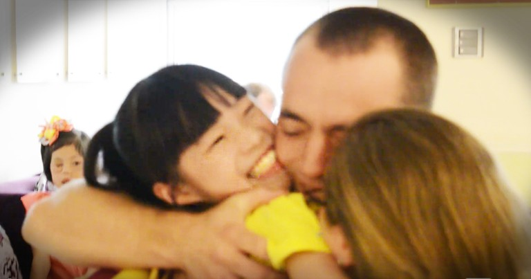 Couple Picking Up Their Adopted Daughter Get The Warmest Welcome Anyone Has Seen