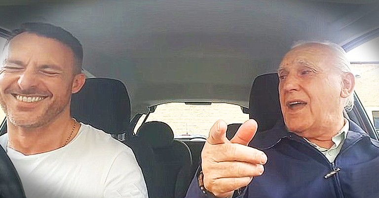 Father With Alzheimer's Remembers Lyrics To Popular Song And Sings In The Car With Son