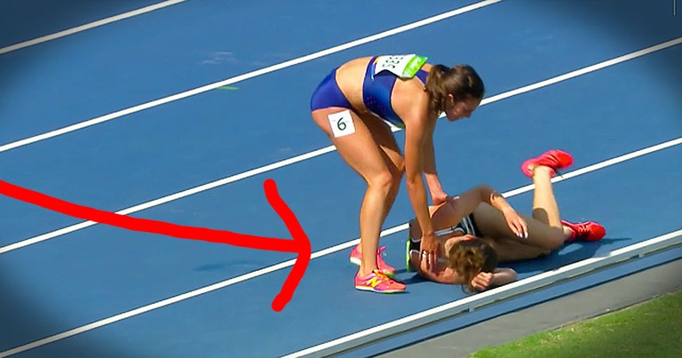 US Olympic Runner Shows Amazing Sportsmanship After Colliding With Another Competitor