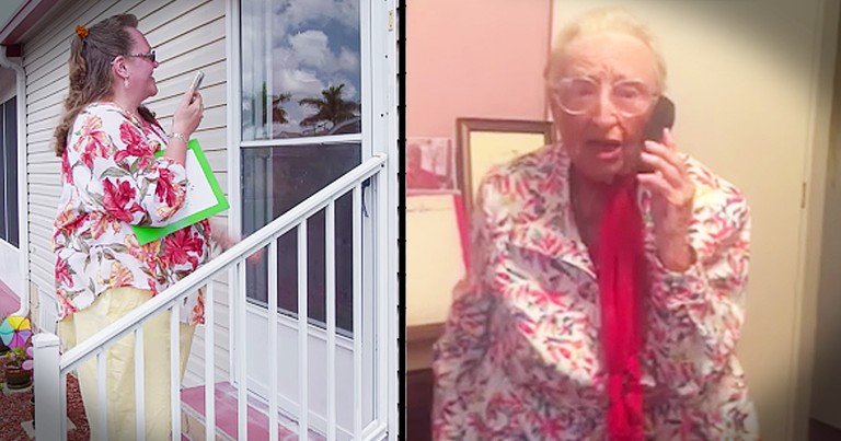 Loving 97-Year-Old Receives Surprise Party With All Her Friends And Family