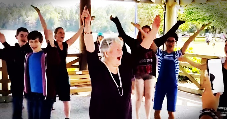 85-Year-Old Gets A Birthday Flash Mob To Make Her Dreams Come True