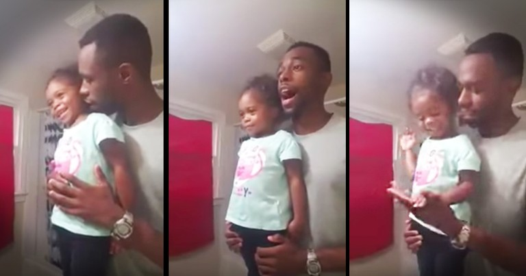 Daddy-Daughter Pep-Talk Is My New Favorite Morning Routine