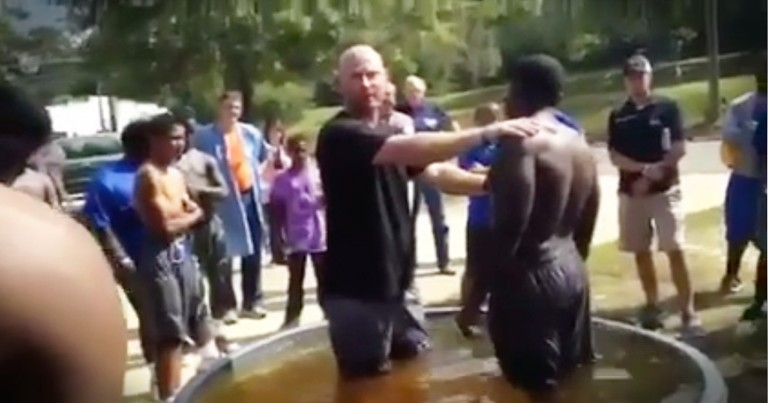 Football Practice Baptism Is Beautiful And God-Filled
