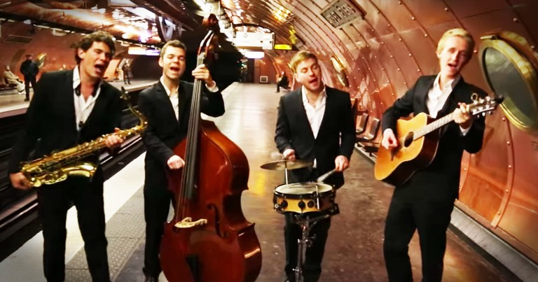 Amazing Quartet Gives Popular Song An Adorably Old-Timey Twist And I Can't Stop Dancing