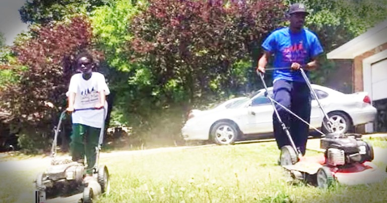 Good Samaritans Mow Lawns For Those Who Can't To Spread A Little Kindness
