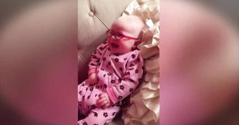 Baby Girl Can't Stop Smiling After Getting New Glasses