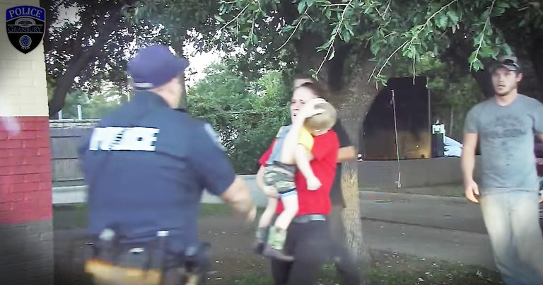 Dashcam Records The Moment An Officer Saved A 3-Year-Old's Life And The Tears Are So Real