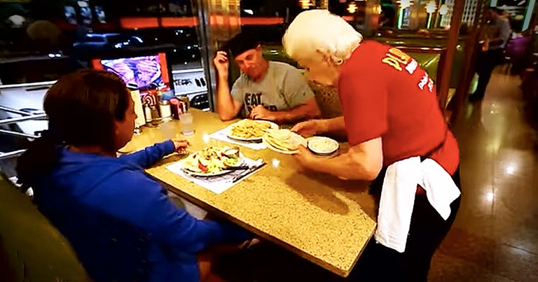 86-Year-Old Waitress Finally Retires And Is Surprised With a Cruise