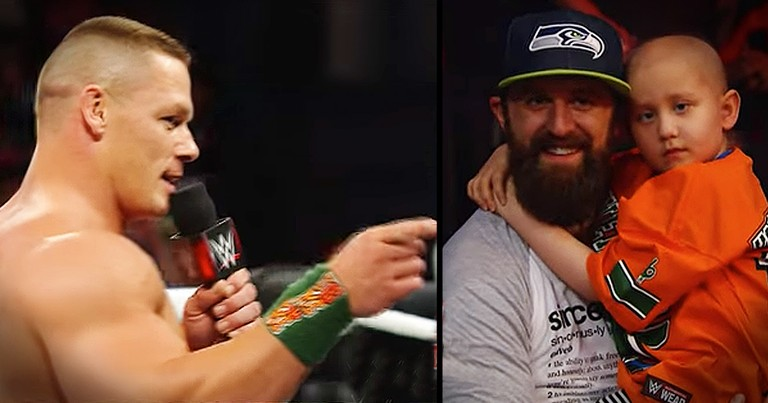 Wrestler Stops Match To Recognize 7-Year-Old Cancer Survivor