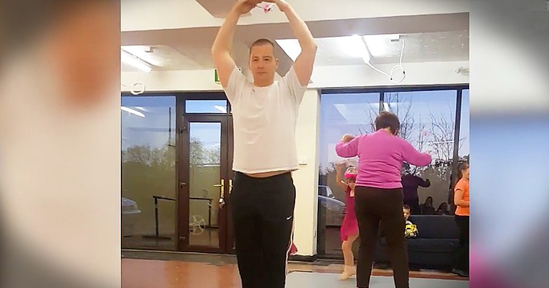 Military Dad Joins His Daughter For Ballet Class