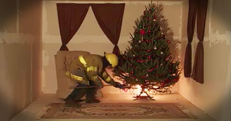 Simulation Warns How Dangerous A Christmas Tree Fire Can Be