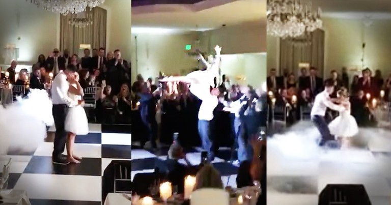 This Couple Just Nailed The 'Dirty Dancing' Leap At Their Wedding