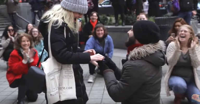 Incredible 'Can't Stop The Feeling' Flash Mob Turns Into An Adorable Proposal