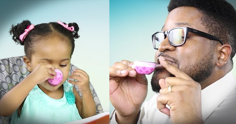 Dad's Tea Time With His Toddler Is Hilarious