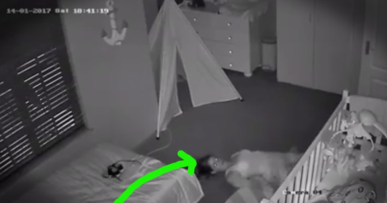 mom hilariously sneaks out of her baby s room after