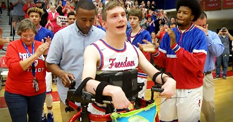 Teen Learns To Walk For A Rivalry Game And You Have To See The Crowd React