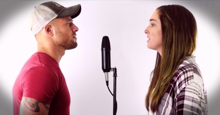 Chill-Inducing Country Duet Of 'Can't Help Falling In Love'