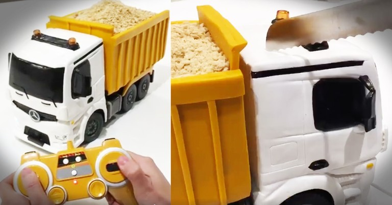 Woman Takes A Knife To A Toy Dump Truck With A Surprising Result
