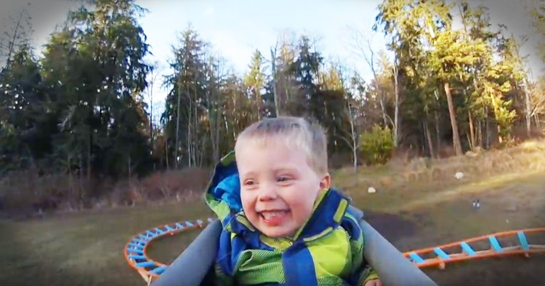 Navy Pilot Built His 3-year-old Son An Epic Backyard Roller Coaster