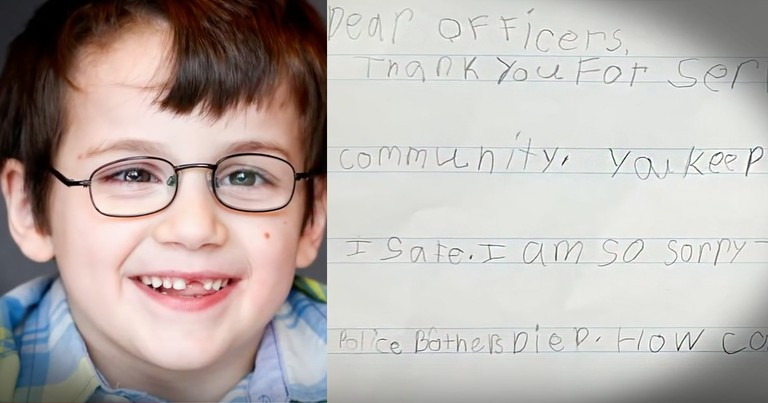 When This 7-Year-Old Heard An Officer Died He Wrote A Letter That'll Warm Your Heart