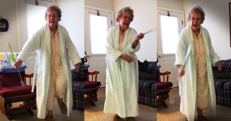 87-Year-Old Granny Was A Majorette And It Turns Out She's Still Got It