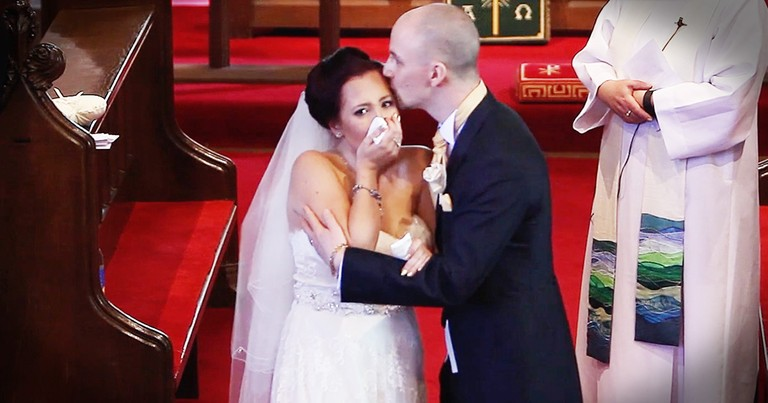 Bride Hears The Voices Of Children Turns And Bursts Into Tears