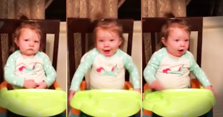 Little Girl Is All Grumpy Until Mom Turns On Her Favorite Song