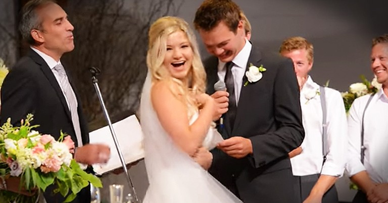 Groom Has Hilarious Flub While Reciting His Wedding Vows
