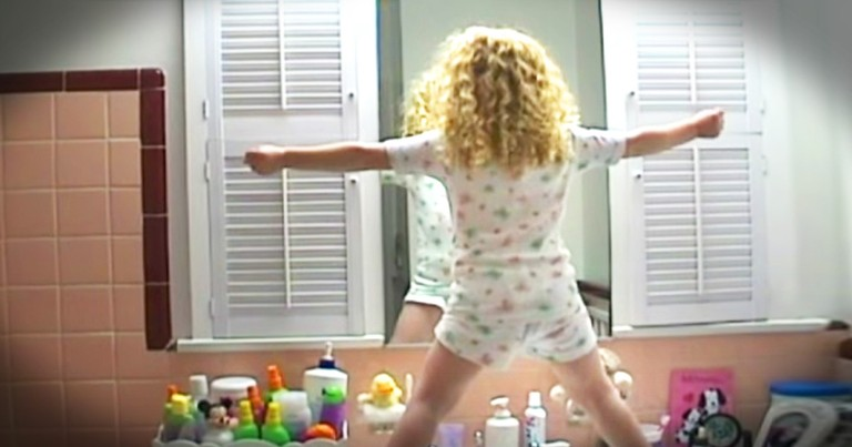 Little Girl Celebrates Life With Adorable Pep Talk In The Mirror