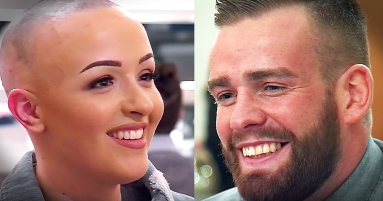 Man Has Heartwarming Reaction When His Date Removes Her Wig