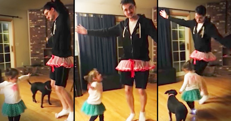 Dad Puts On A Tutu To Adorably Dance With His Baby Girl