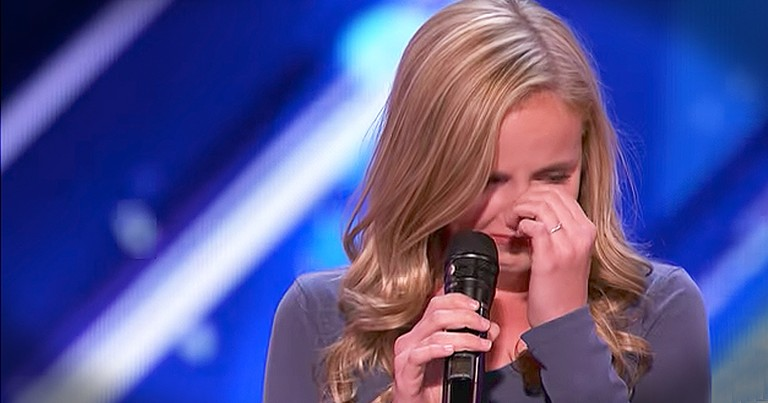 Evie Clair Dedicates Emotional Audition To Her Dad