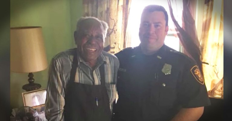 Police Officers Buy 95-Year-Old Man A New AC