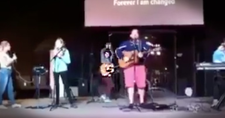 Worship Guitarist Gets Hilariously Moved By The Spirit