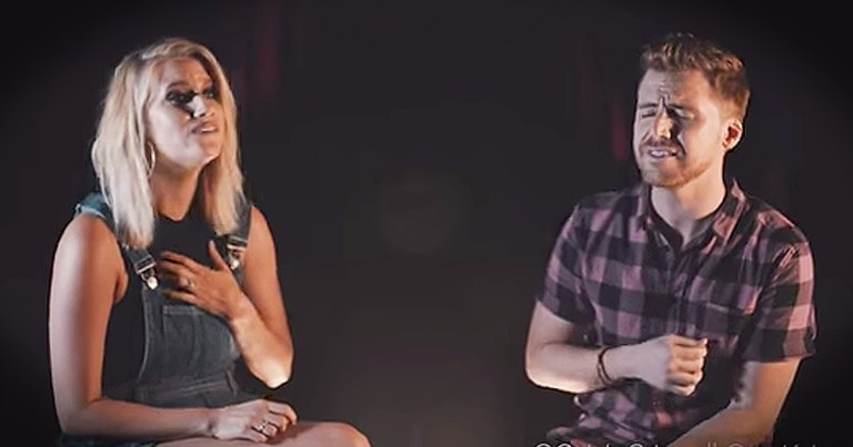 Christian Couple Sing Worship Mashup Of 'Oceans' And 'You Make Me Brave'