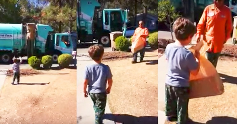 Autistic Boy Receives Unexpected Gift From Garbage Man