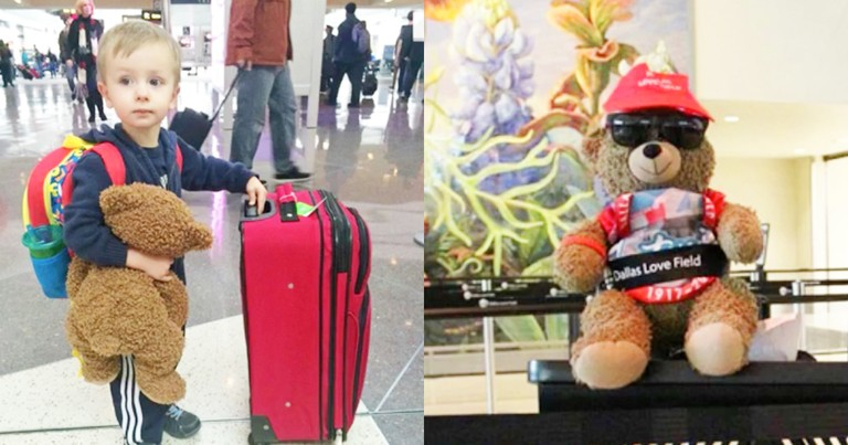 4-Year-Old Reunites With Lost Teddy Bear In Airport