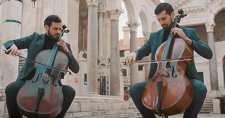 2 Men Playing Cellos Give Breathtaking Performance Of 'Love Story'