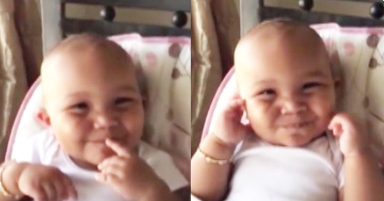 Adorable Baby Girl Laughs Like A Chipmunk