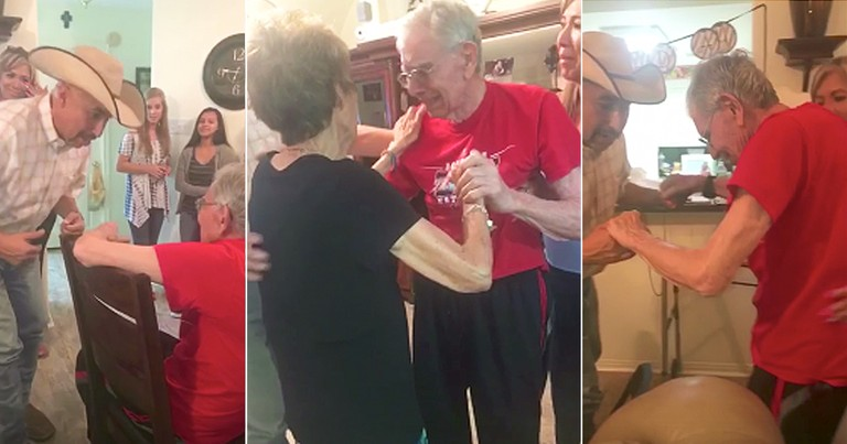Elderly Man With Alzheimer's Dances For The First Time In Years