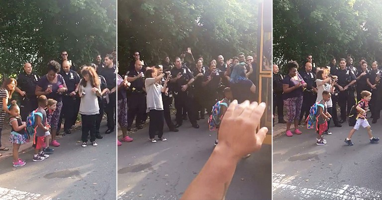 Son Of Fallen Cop Gets Back To School Send Off From Police Officers