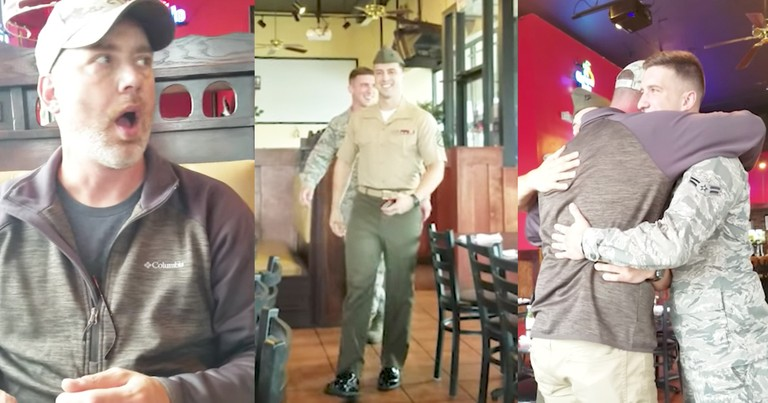 Dad Tears Up Over Soldier Sons Surprise Birthday Homecoming